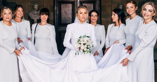 Ellie Goulding's bridesmaids revealed in unseen photo | OK! Magazine