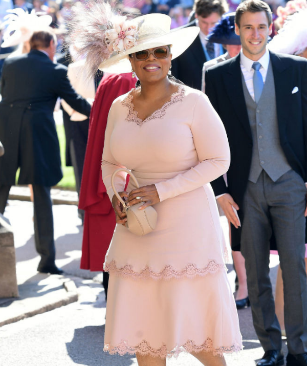 Oprah arrives at the Royal Wedding.