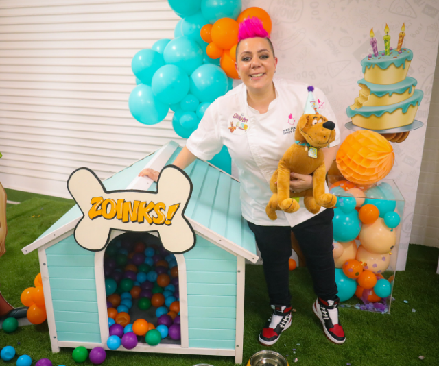 Anna Polyviou can now add this impressive dog cake to her list of amazing cake creations.