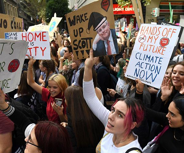 Climate strikes have swept the nation with students joining together to peacefully protest.