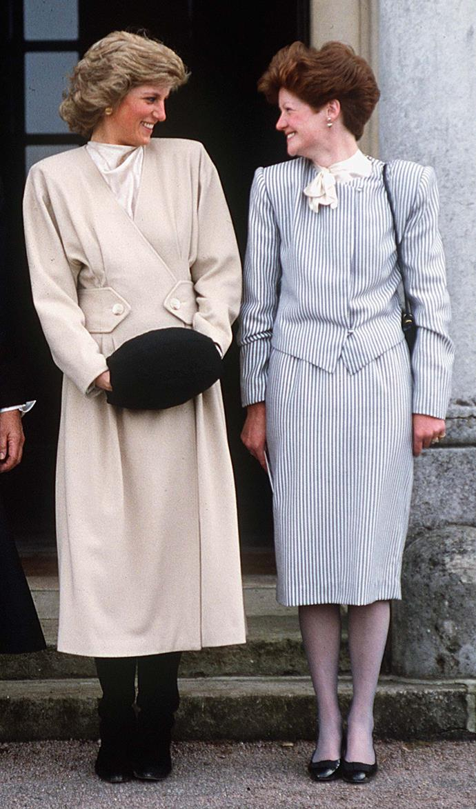 Princess Diana with her older sister Sarah.