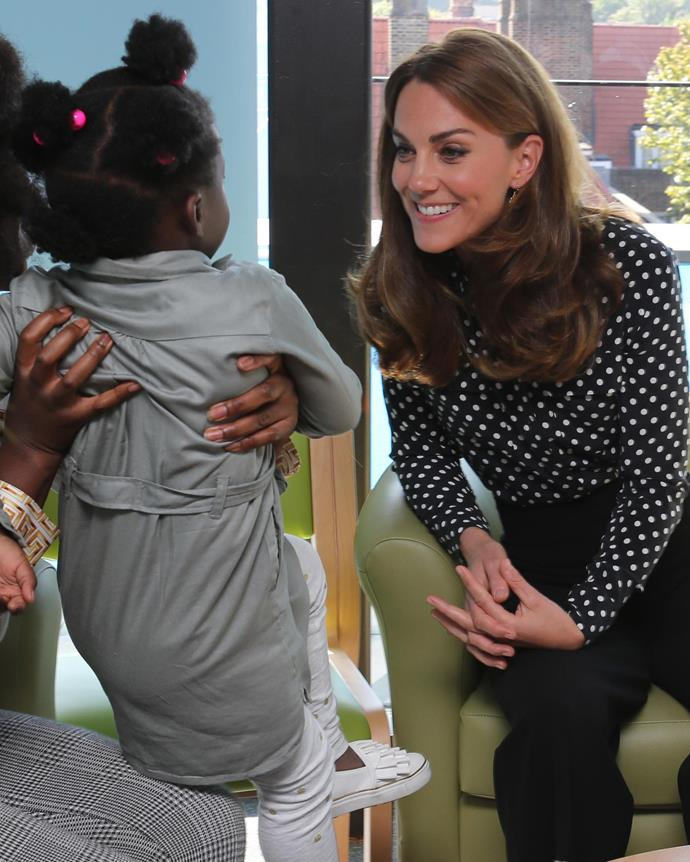 Kate met with children and mothers who had benefited from the work the program does.