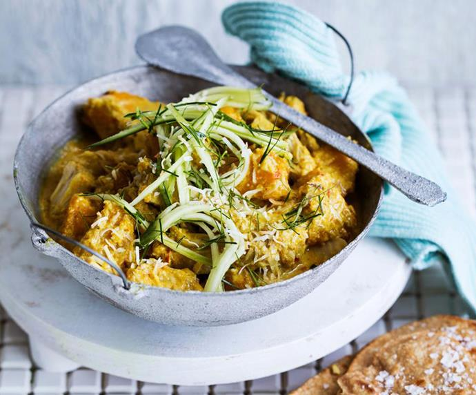 "[Vegan rendang curry with jackfruit and spelt flatbread](https://www.womensweeklyfood.com.au/recipes/vegan-rendang-curry-recipe-30914|target=""_blank"") <br><br> With a blend of Indonesian rendang flavours and clever use of tender jackfruit, this vegan take on the curry classic is one that will be on high rotation."
