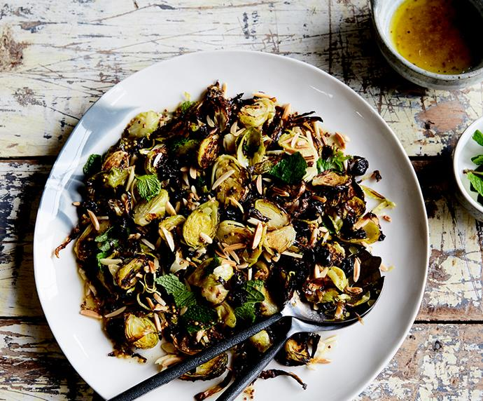 "[Roasted Brussels sprouts, cranberry and almond salad](https://recipes.vegkit.com/roasted-brussels-sprouts-cranberry-almond-salad|target=""_blank""
