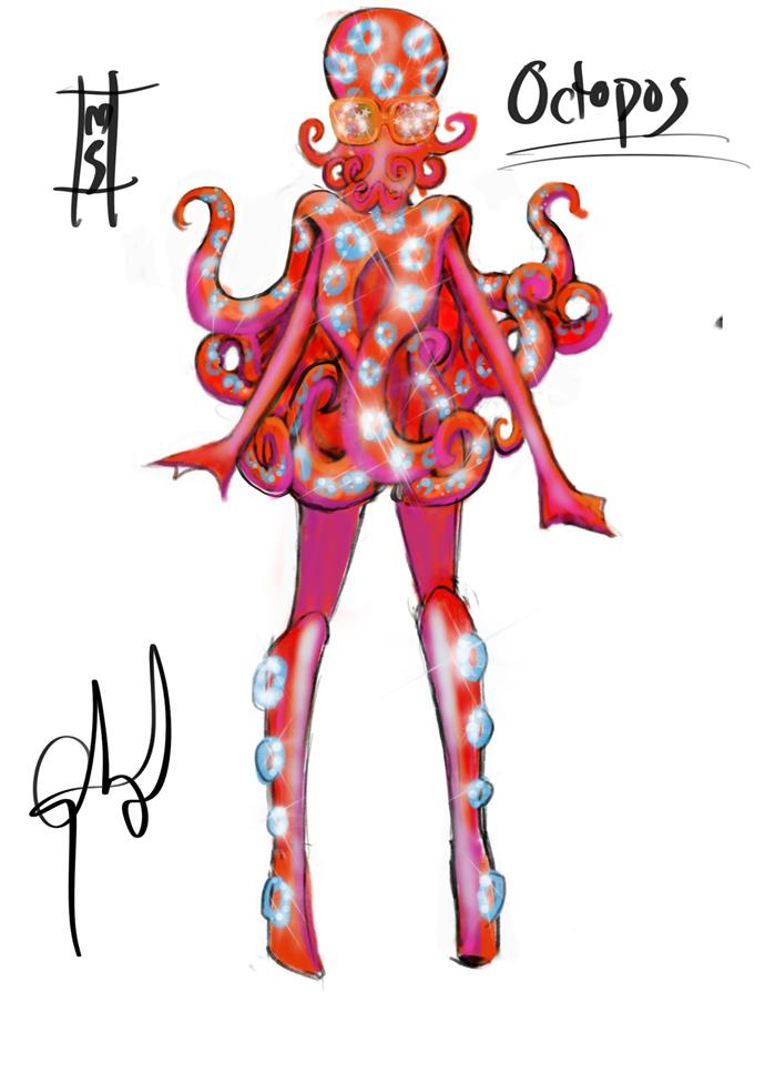 ***The Sketch:*** This spectacular Octopus is out from the Choral Reef and onto the Masked Singer stage!