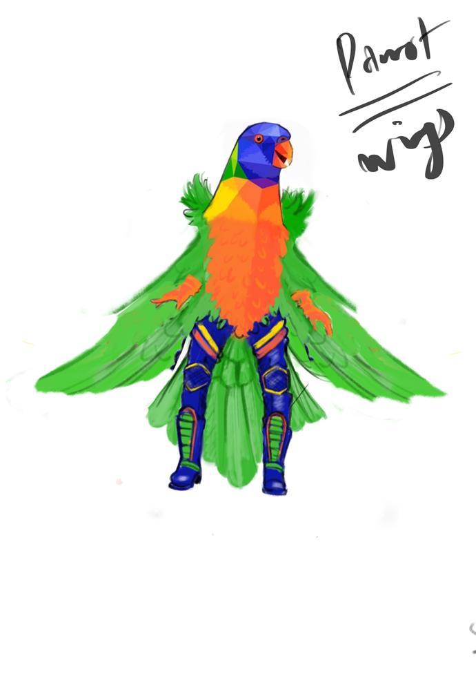 ***The Sketch:*** Fly, my pretty! Fly!