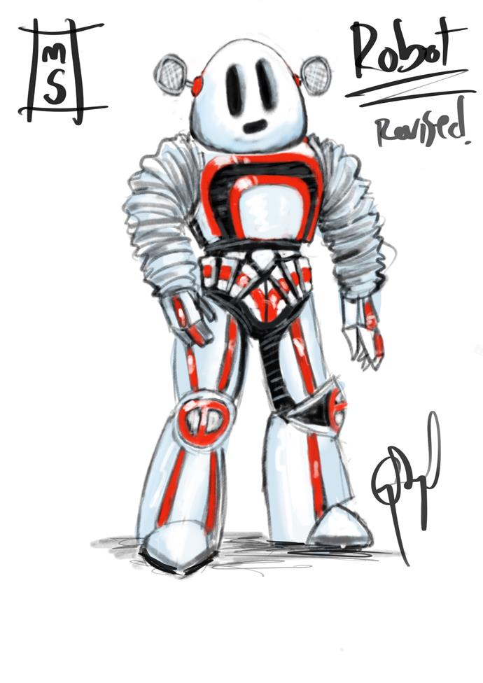 """***The Sketch:*** Will our Robot be singing a little bit of """"heavy metal""""..."""