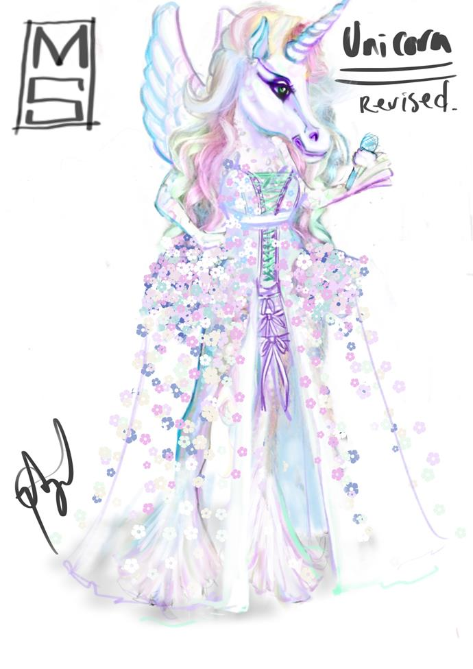 ***The Sketch:*** Fit for a Unicorn princess!