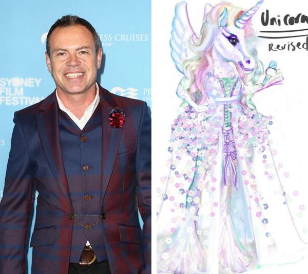 "Academy award winning designer, Tim Chappel shares his ""Unicorn"" design from *The Masked Singer*."