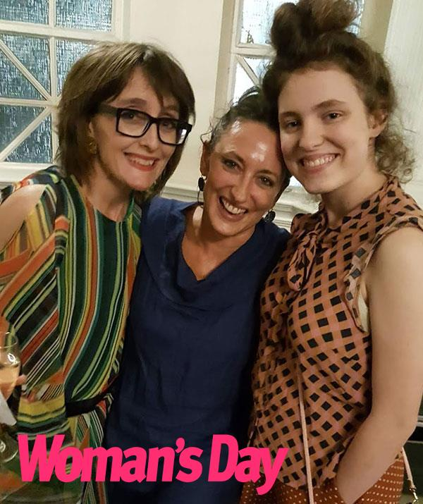 With her daughter Holly (right) and Jeanne Little's daughter Katie.