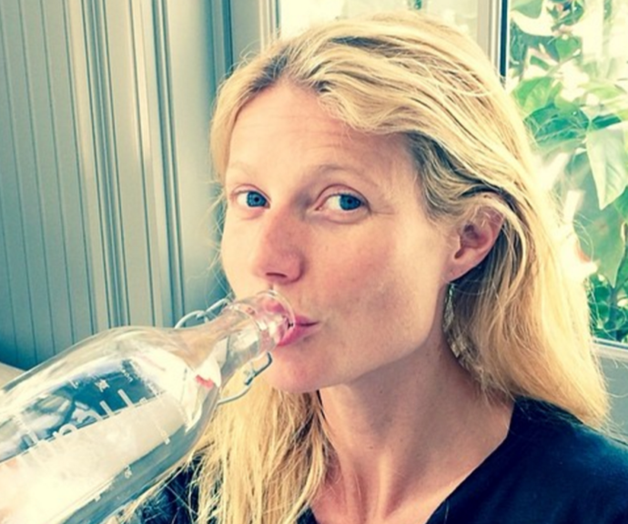 Gwyneth Paltrow loves to drink lemon water in the morning.