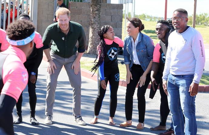"""One Waves for Change participant, Ash Heese told *Town and Country* that Duchess Meghan """"looked a little bit hesitant"""" so one of the coaches """"shared that her participation and her energy and her dancing was one of her strengths."""""""