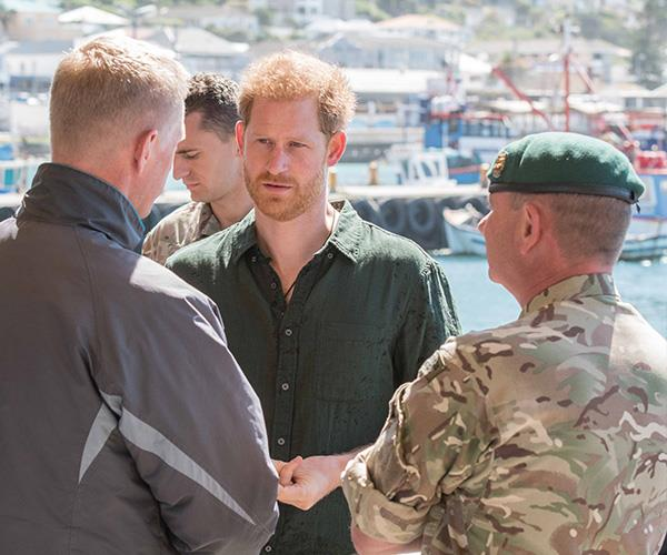 While Meghan returned to Archie, Prince Harry chatted with officers from the City of Cape Town Marine Unit and learned about their work combating the poaching of abalone, an endangered type of sea snail.