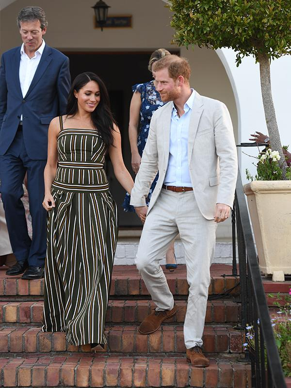 The Duchess of Sussex recycled her Martin Grant maxi dress that she wore to Bondi Beach on their last royal tour.