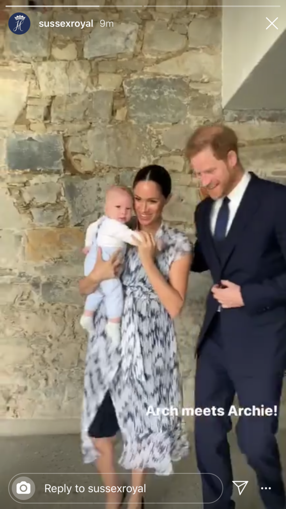 Harry and Meghan look like the ultimate proud parents.
