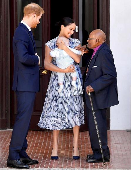 History being made! Archie meets Archbishop Desmond Tutu.