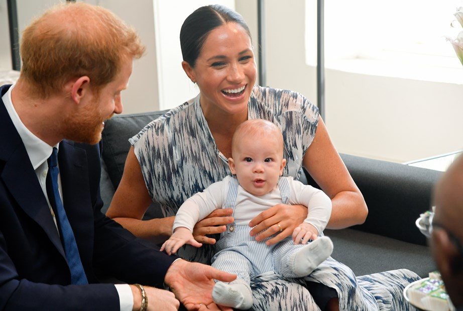 Meghan revealed the entire itinerary has been planned out around five-month-old Archie's feeding times. *(Image: Getty)*