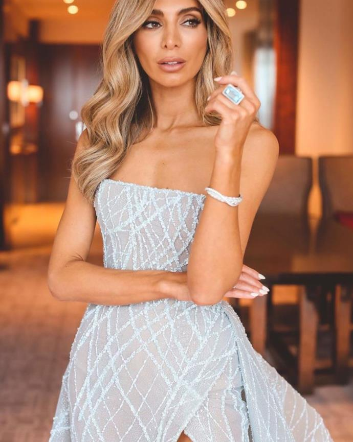 Nadia's ring was the ultimate accessory at the Brownlow Medal Awards.