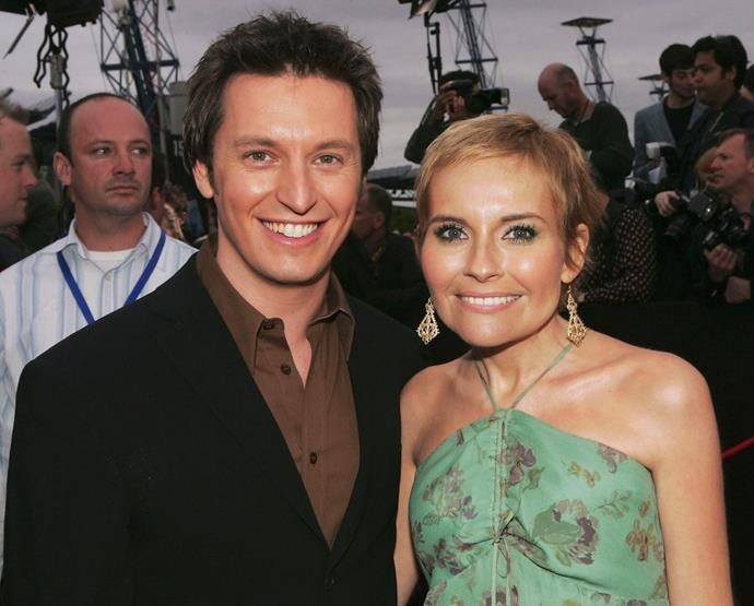 Belinda and husband Rove McManus at the ARIAs in 2004.