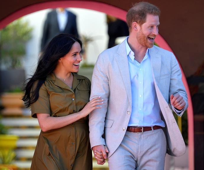 "During their [#SussexRoyalTour of Africa](https://www.nowtolove.com.au/royals/british-royal-family/meghan-markle-prince-harry-africa-tour-plans-58365|target=""_blank""), Harry and Meghan have been in full-blown PDA mode, always holding hands and smiling happily at each other."