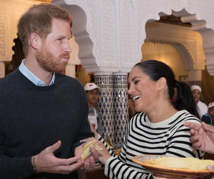 While on tour in Morocco, while Meghan was pregnant with baby Archie, these two poked fun at each other endlessly.