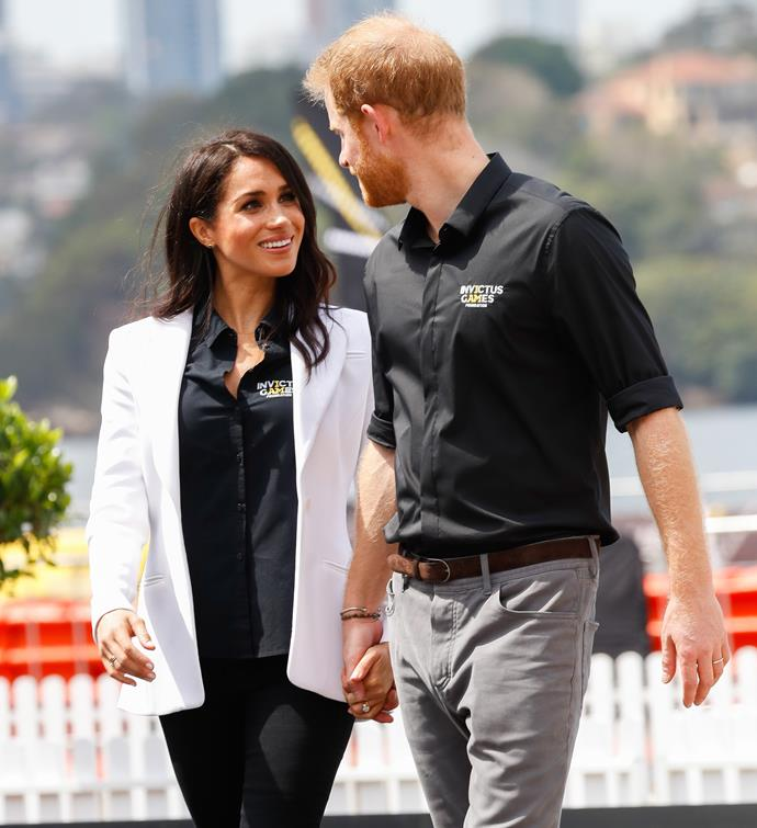 There's that look again! Get someone who looks at you the way Meghan looks at Harry!