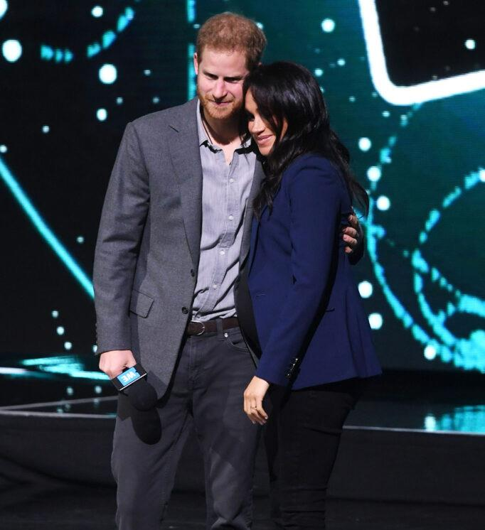A heavily pregnant Meghan made a surprise appearance at the We Day conference in the UK, just as she was about to give birth to Archie.
