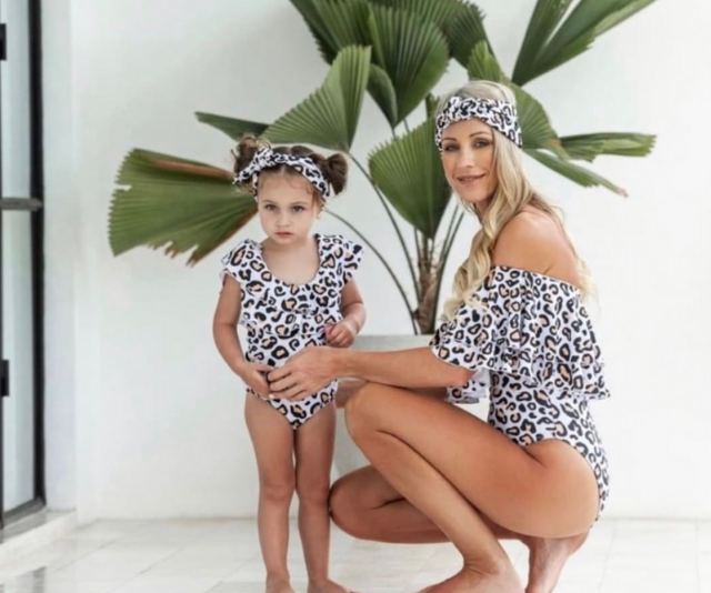 **Infamous Swim:** Infamous & Mini Swim is a chic collection of matching swimwear for mothers and their daughters. It's perfect for girls who want to be like their mummas, and for mums whose daughter is her everything.