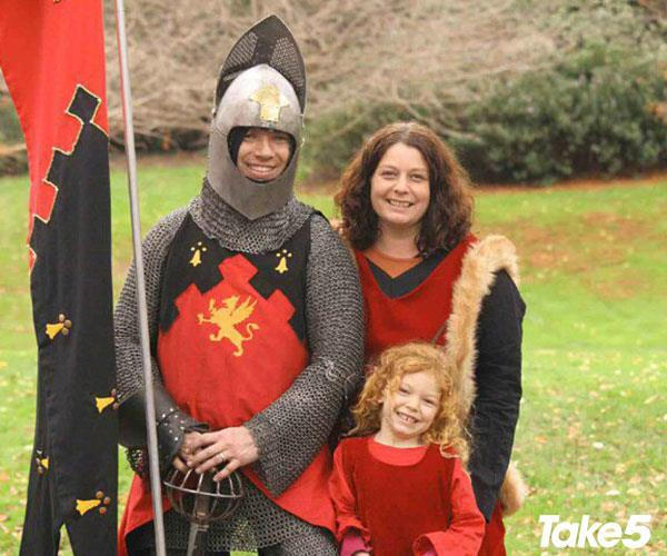 We're a happy medieval family.