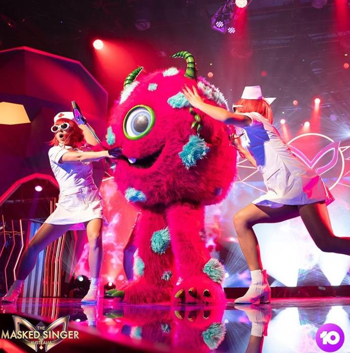 The Monster sings on *The Masked Singer*.