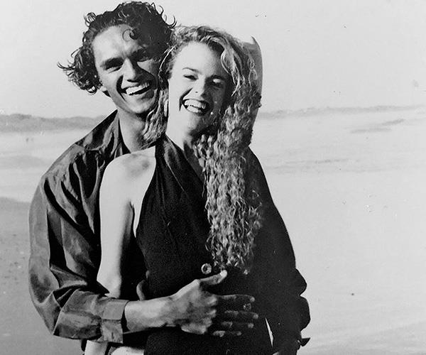 This black and white snap is just adorable. Is that a young Nicole Kidman?