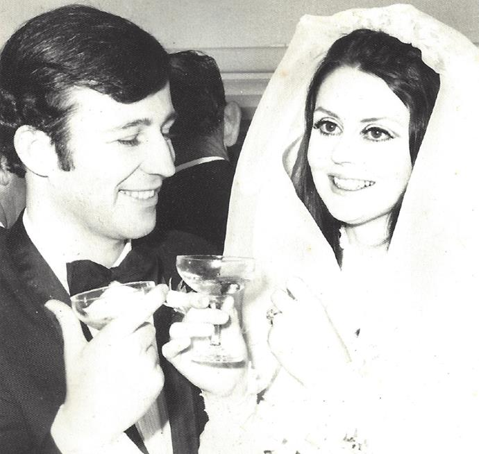 Too gorgeous! A photograph from their wedding day.