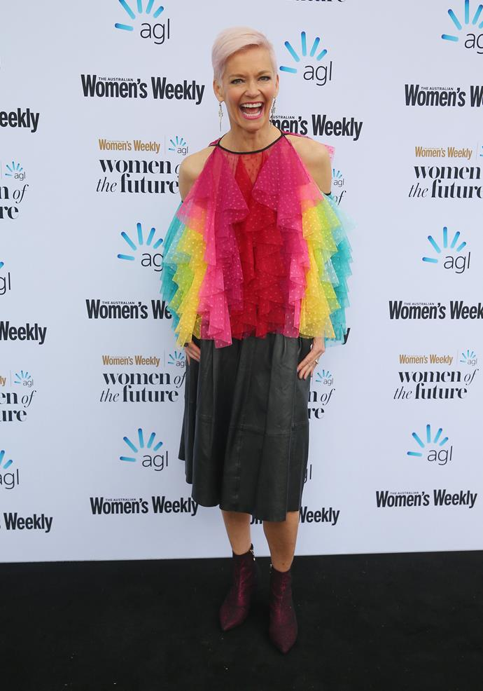 At our 2018 Women Of The Future Awards, Jess embraced the rainbow again and was a stand-out on the red carpet.