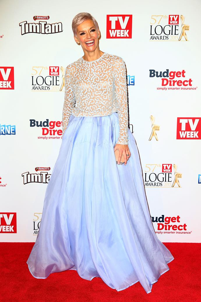 For the 2015 *TV WEEK* Logie Awards, Jess looked like a real life Cinderella.