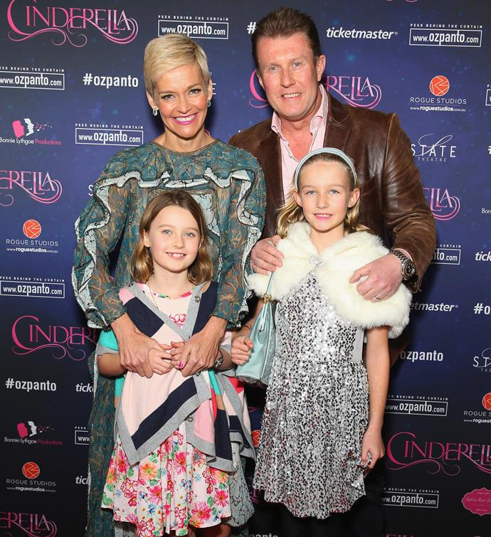 Jess and Peter with their gorgeous daughters.