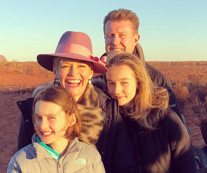 The family on holiday in Uluru.