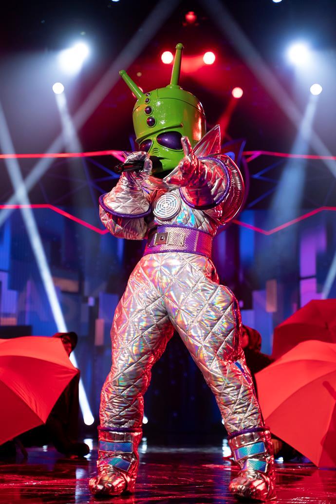 Nikki performs on *The Masked Singer Australia.*