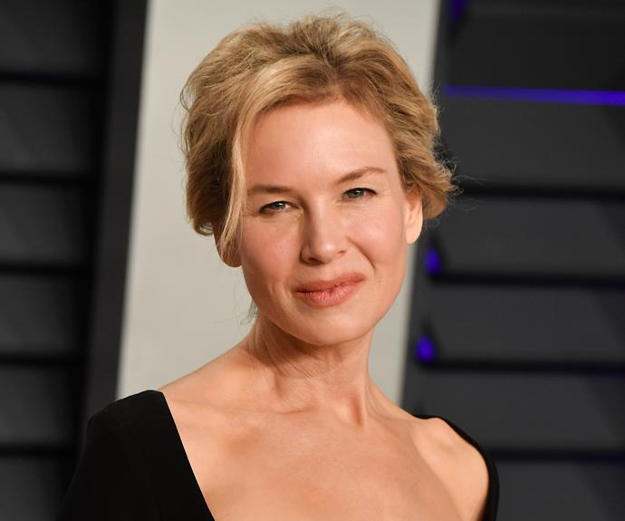 Renee Zellweger on the red carpet at the 2019 *Vanity Fair* Oscars party in February.