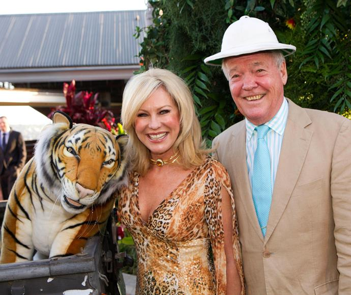 Happier times - Kerri-Anne and John at a Taronga Zoo fundraiser in 2014.