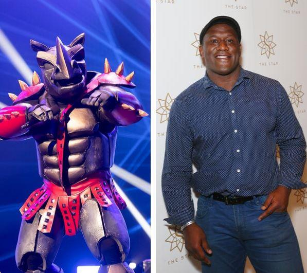 Rugby legend, Wendell Sailor, was revealed as The Rhino!