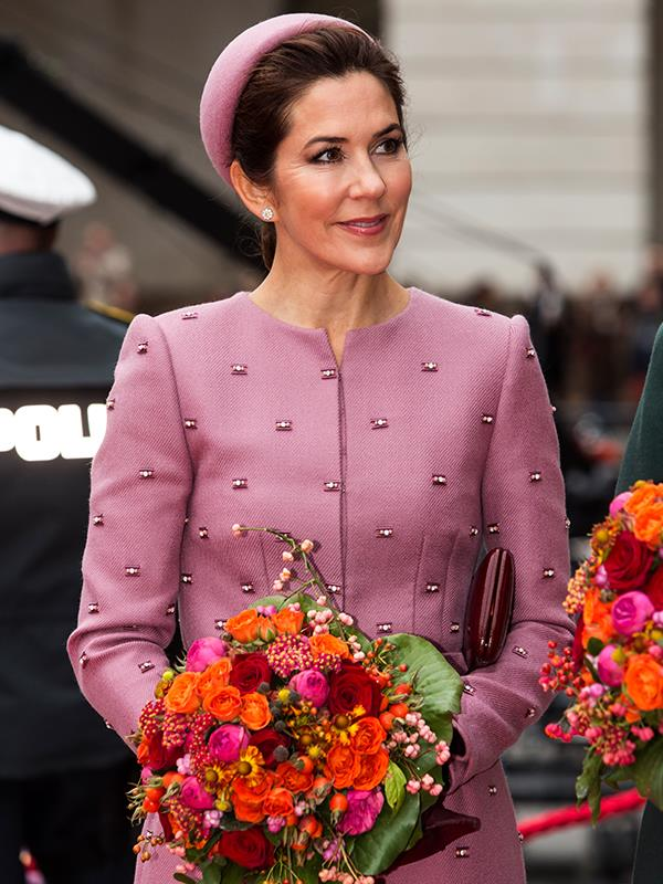 Crown Princess Mary was pretty in pink at the opening of Danish parliament.