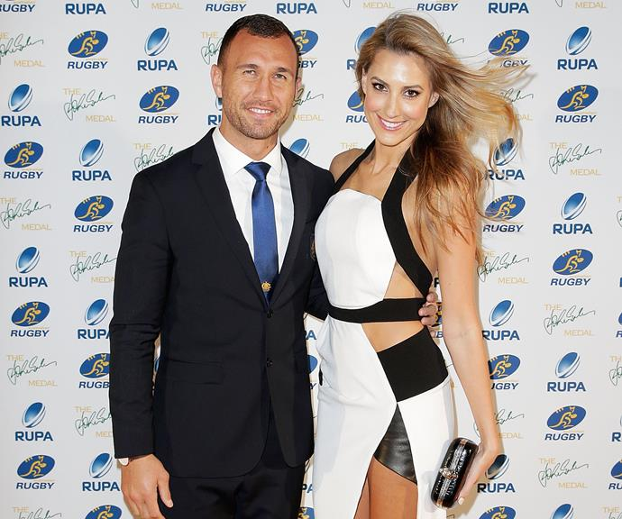 Laura and her partner, rugby star Quade Cooper.