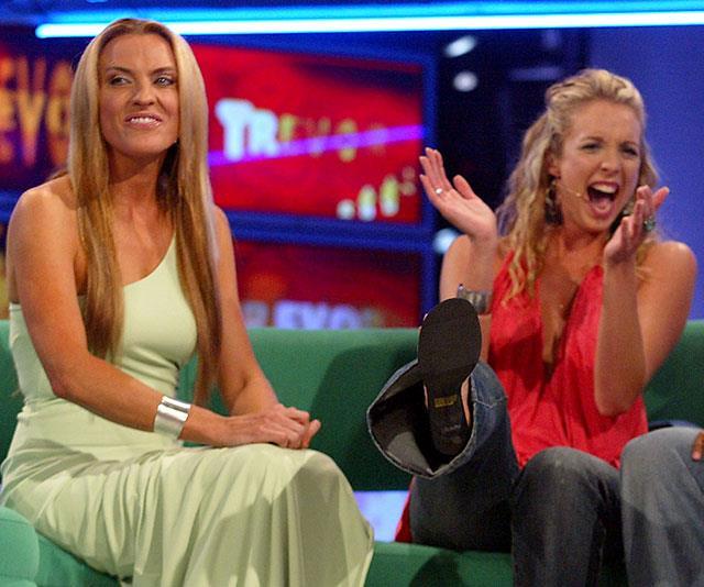 *Big Brother's* Gretel Killen with contestant Bree Amer.