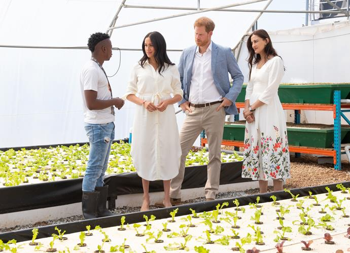 The royal couple met with local entrepreneurs.