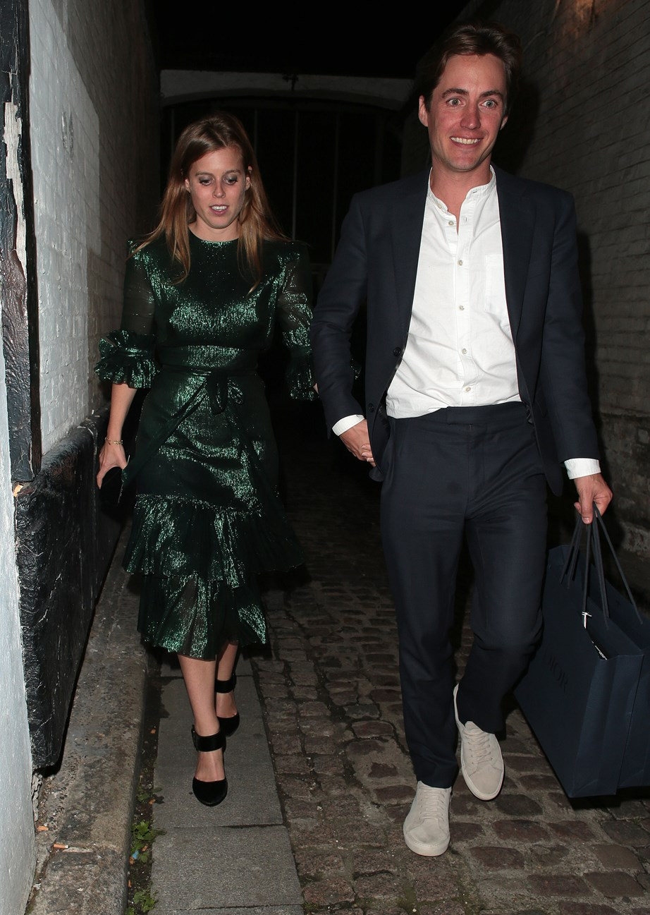 Beatrice and Edoardo were spotted hand-in-hand just days after announcing their exciting news. *(Image: Getty)*