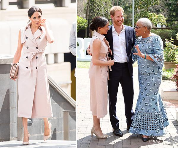 The stylish royal met Nelson Mandela's widow Graça Machel and her dress was the same one she wore to the Nelson Mandela Centenary Exhibition at London's Southbank Centre last year.