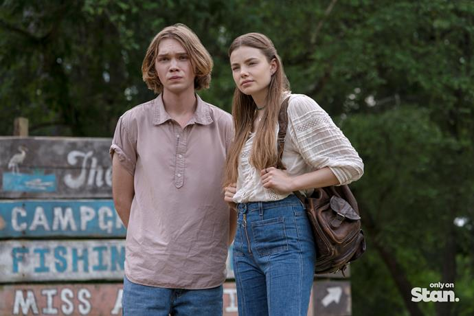 Charlie Plummer and Kristine Froseth in *Looking For Alaska.*