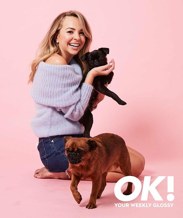 Angie says she's met The One - but *OK!'s* prop pups Alfie and Percy have stolen her heart, too!