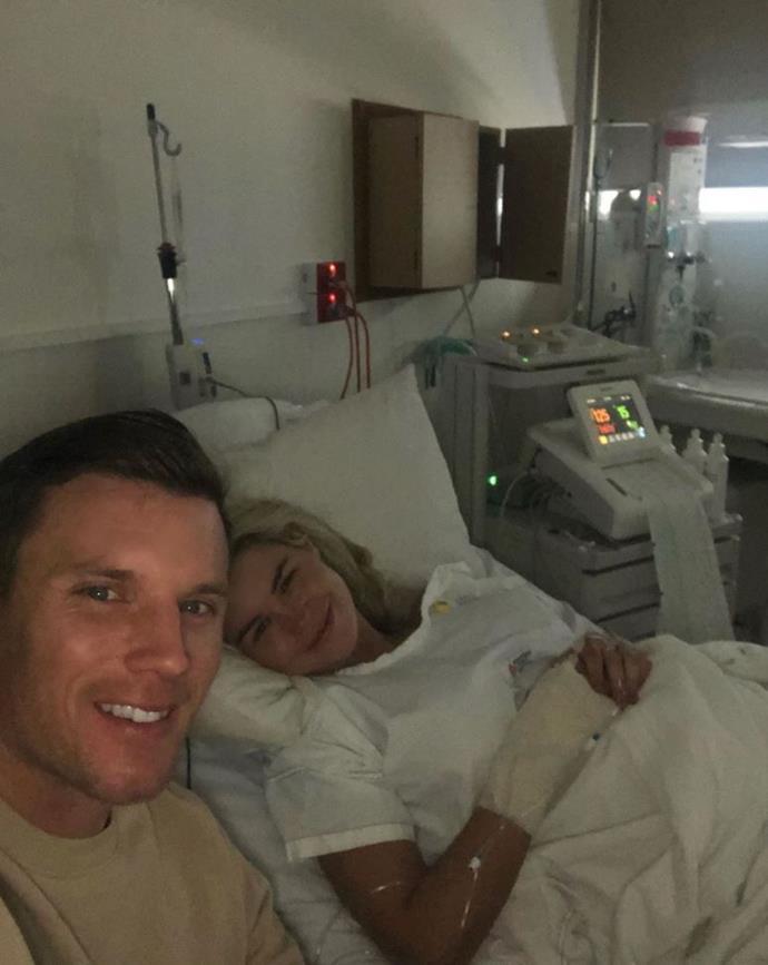 Simone and Matt's final selfie before becoming parents.