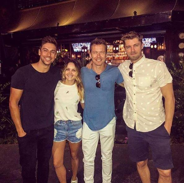Luke's *Home and Away* pals, and wife Rebecca Breeds, couldn't be prouder!